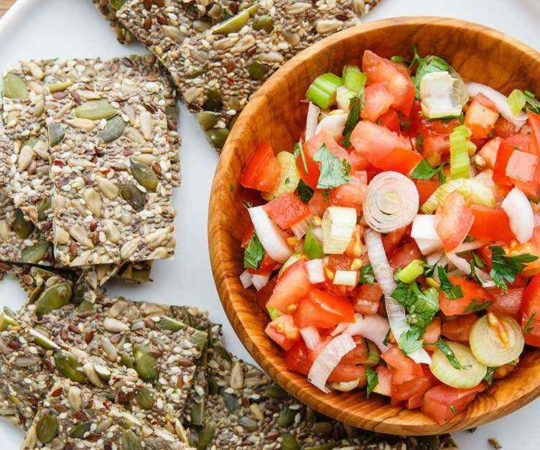 Protein Packed 5 Seed Crackers