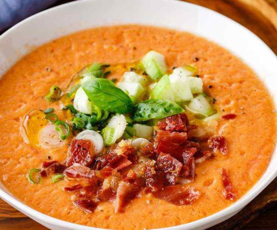 Refreshing Melon Gazpacho