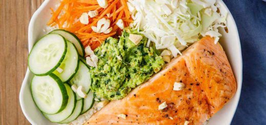 Thai Basil Pesto Salmon Bowl