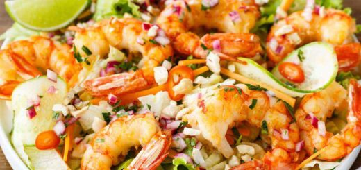 Vietnamese Shrimp Salad with the Best Asian Dressing