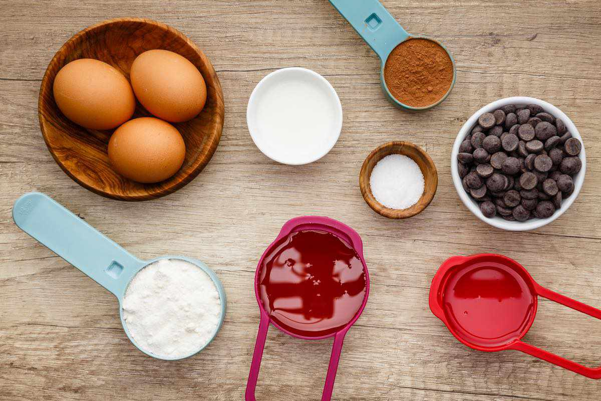 coconut flour paleo brownie ingredients