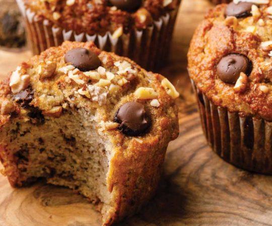 moist banana coconut flour muffins