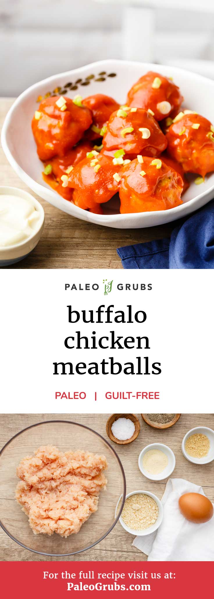 If you're a fan of that classic great taste that buffalo chicken offers, then you're going to absolutely love this paleo recipe. These buffalo chicken meatballs are made entirely from scratch. We're talking the meatballs themselves and the unbelievably tasty buffalo sauce. As if meatballs weren't already addictive enough on their own!