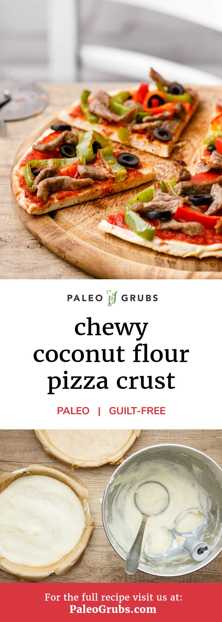 I have a hard time imagining what could possibly be better than enjoying a slice of pizza without feeling even an ounce of guilt for doing so. Thankfully, that's no pipe dream. It's a reality thanks to awesome paleo recipes like this chewy coconut flour pizza crust.