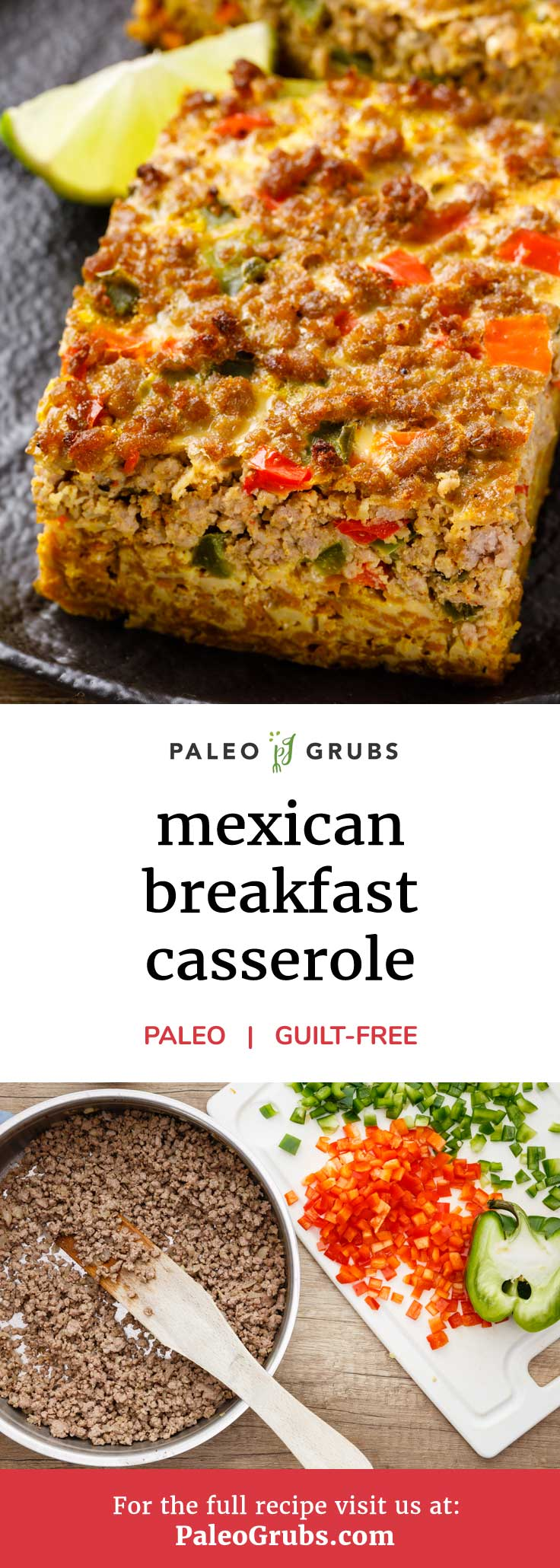 If you love breakfast casseroles and if you love Mexican cuisine, then have I ever got a treat for you with this recipe for a Mexican breakfast casserole. It's made entirely from scratch with deliciously spicy paleo friendly ingredients that produce a casserole that is absolutely bursting with flavor.