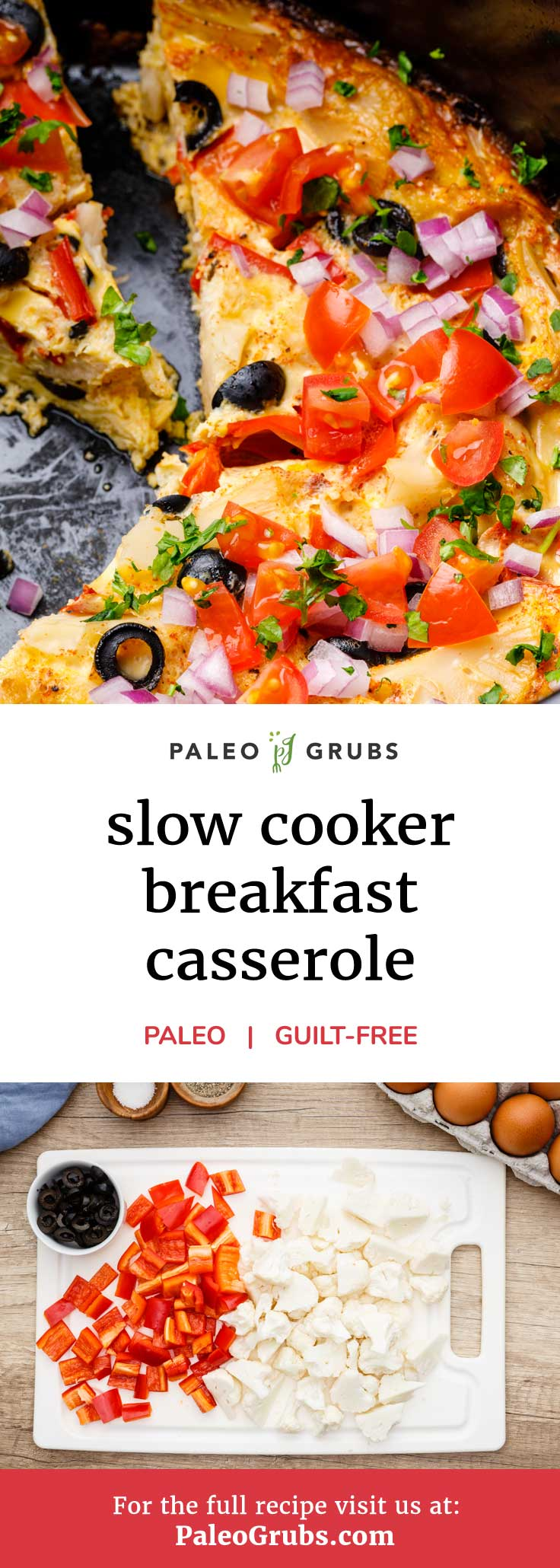 You haven't truly enjoyed a paleo breakfast casserole until you've enjoyed this out of this world slow cooker breakfast casserole.