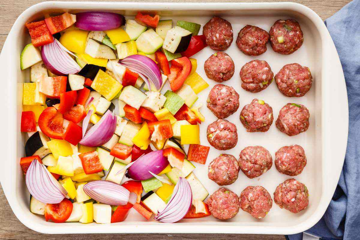 sheet pan meatballs