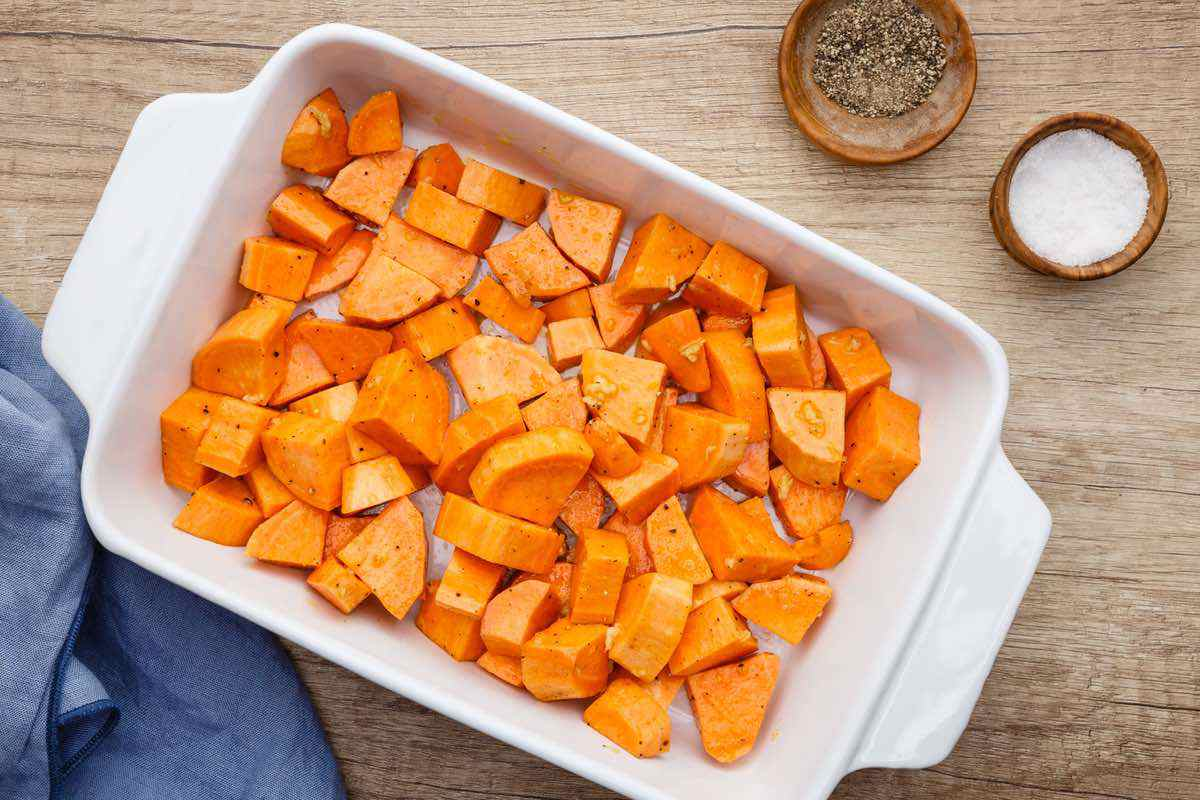 sweet potatoes before oven