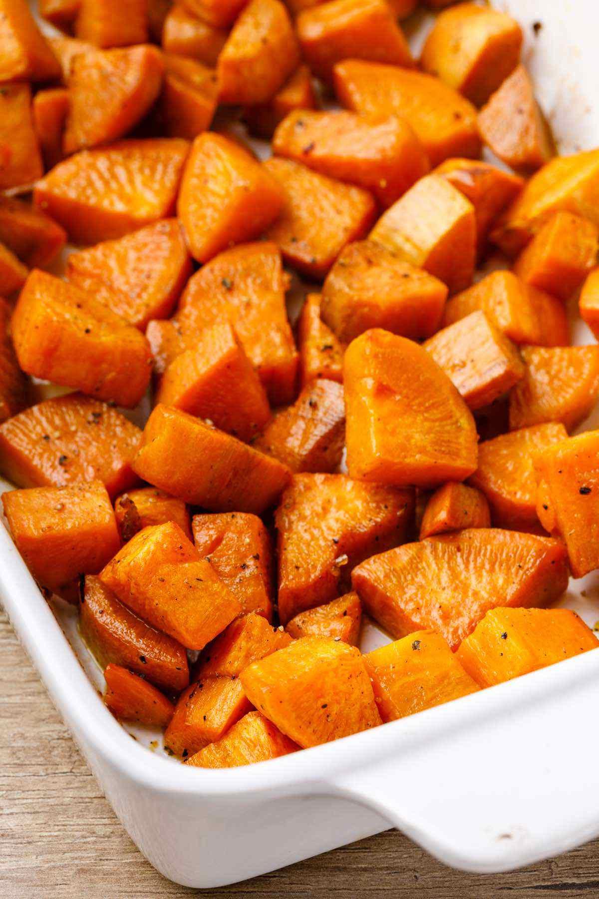 pan roasted sweet potatoes