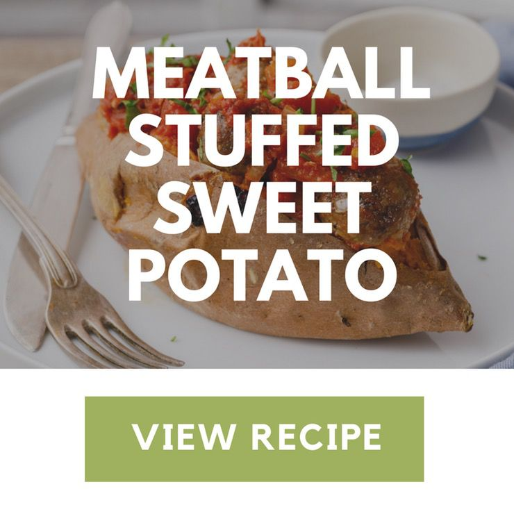 meatball stuffed sweet potato