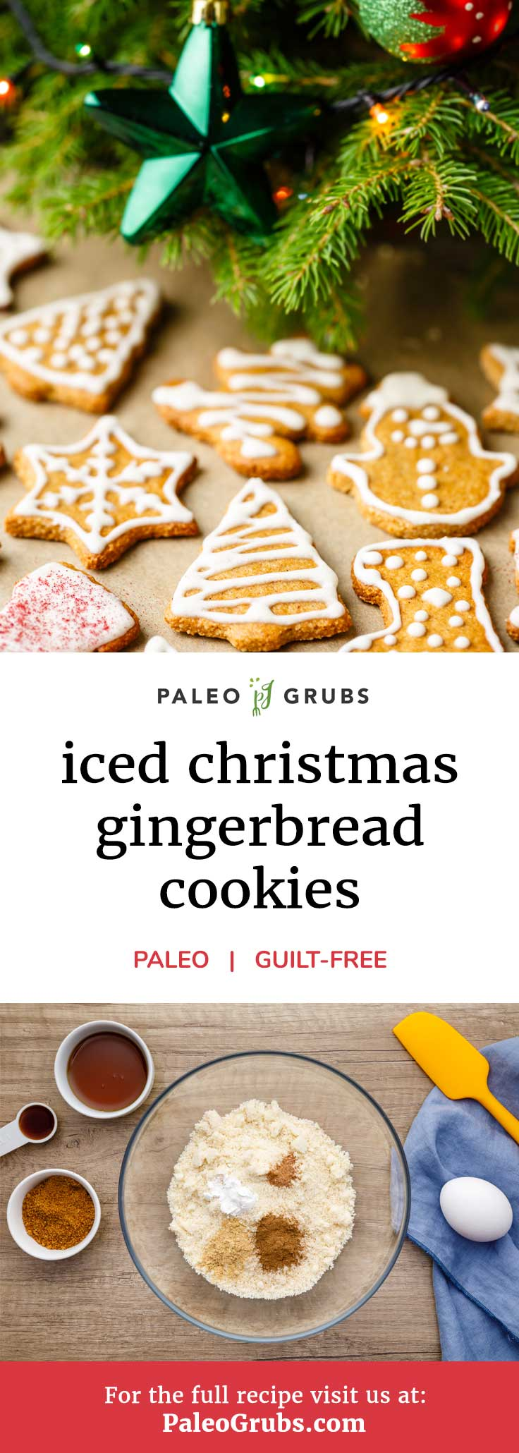 There's nothing quite like a good gingerbread cookie. There's just something about them that makes it nearly impossible to only have just one. To that end, I want to share this recipe for paleo gingerbread cookies with a homemade icing. You won't believe how tasty these cookies are thanks to their fantastic mix of spices including cinnamon, nutmeg, and ginger.