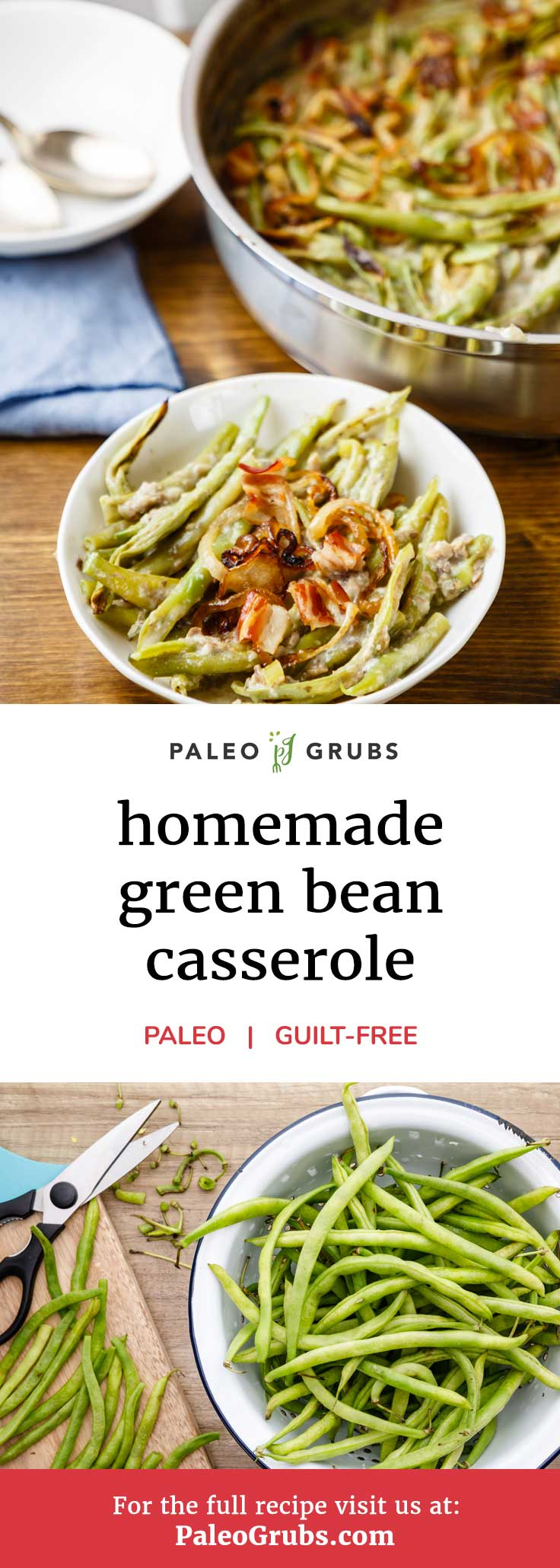 There's two things that I just love about the holiday season. The first is getting together and spending time with all of my loved ones. And the second? You guessed it -- all of the delicious food that's on offer. This green bean casserole recipe is the perfect dish to enjoy with your friends and family!