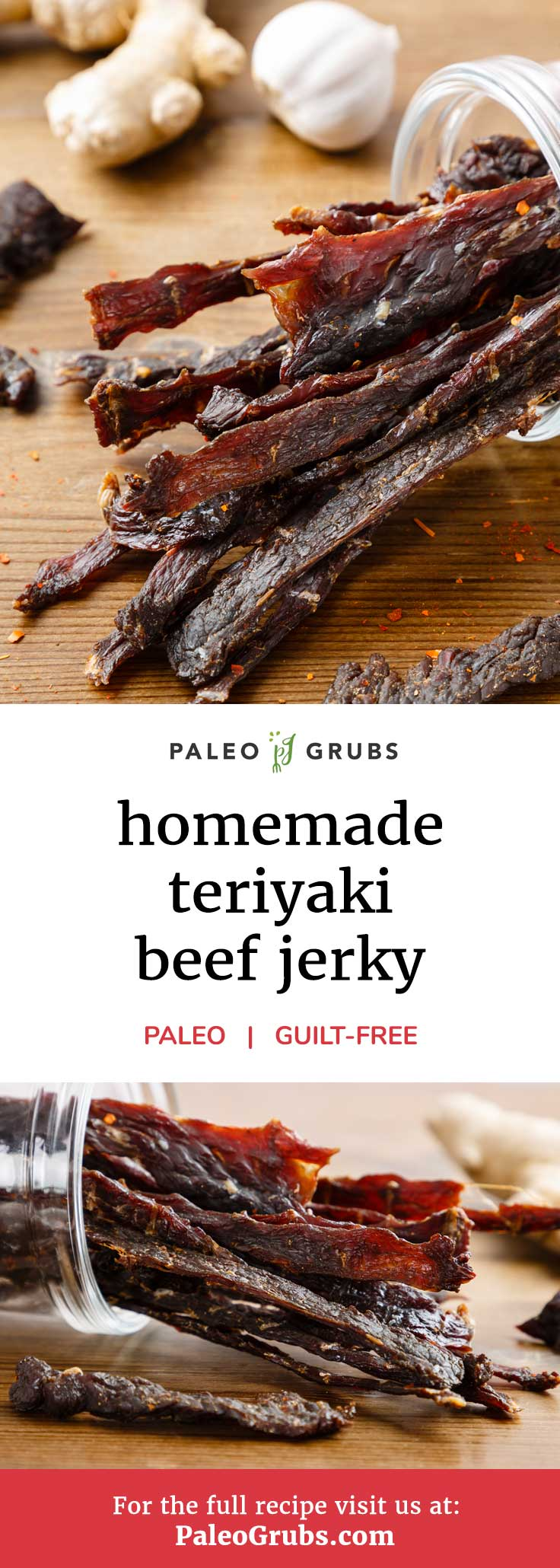 This homemade paleo beef jerky is so easy to make and absolutely the best! Definitely a must-try.