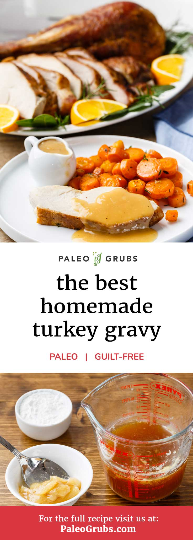 No turkey dinner would be complete without an amazing turkey gravy to go along with everything. This recipe makes what is without a doubt the most perfect turkey gravy ever. You won't be able to resist dousing your turkey, stuffing, and veggies in this delightfully good gravy. It's so good that I would almost recommend making two batches -- it's sure to disappear quickly once your family members get a taste of it!