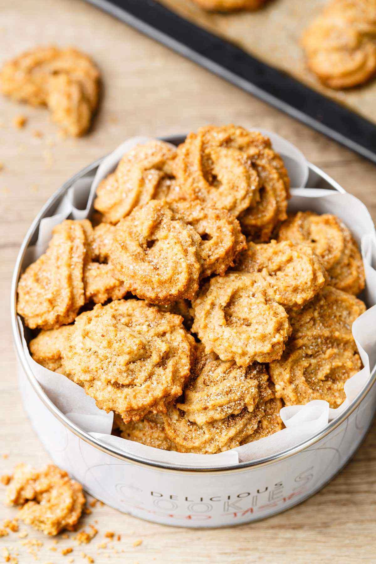 paleo christmas spritz cookies