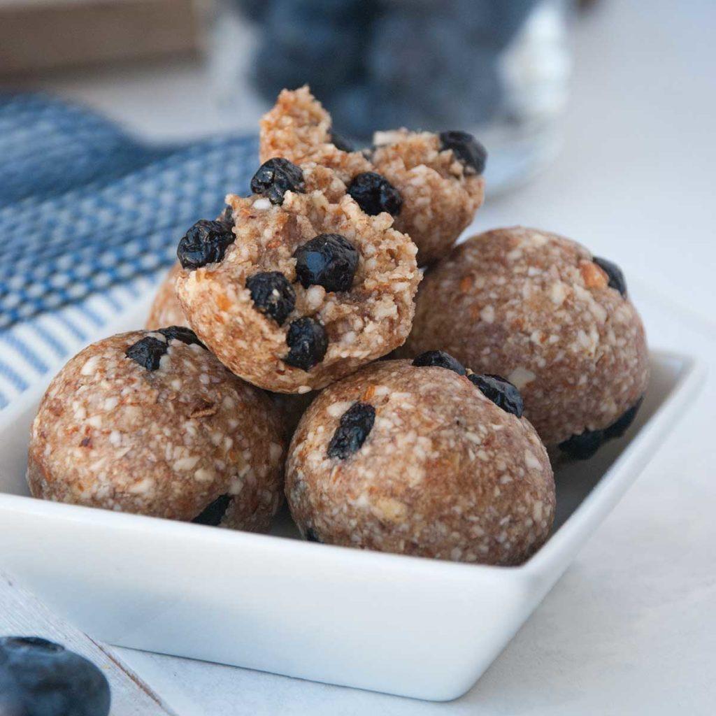 Blueberry Pie Energy Bites