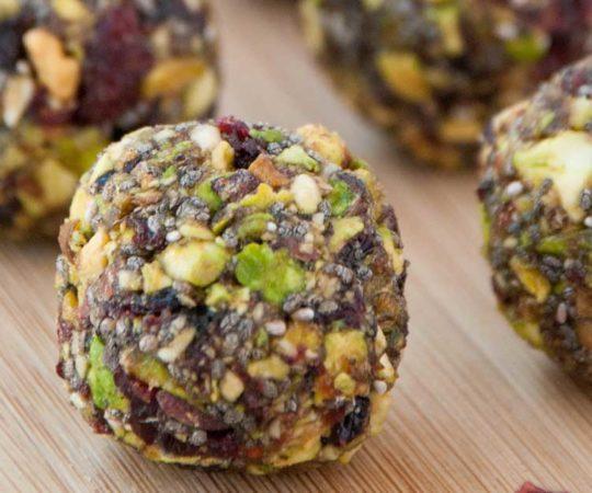 Cranberry Pistachio Energy Balls