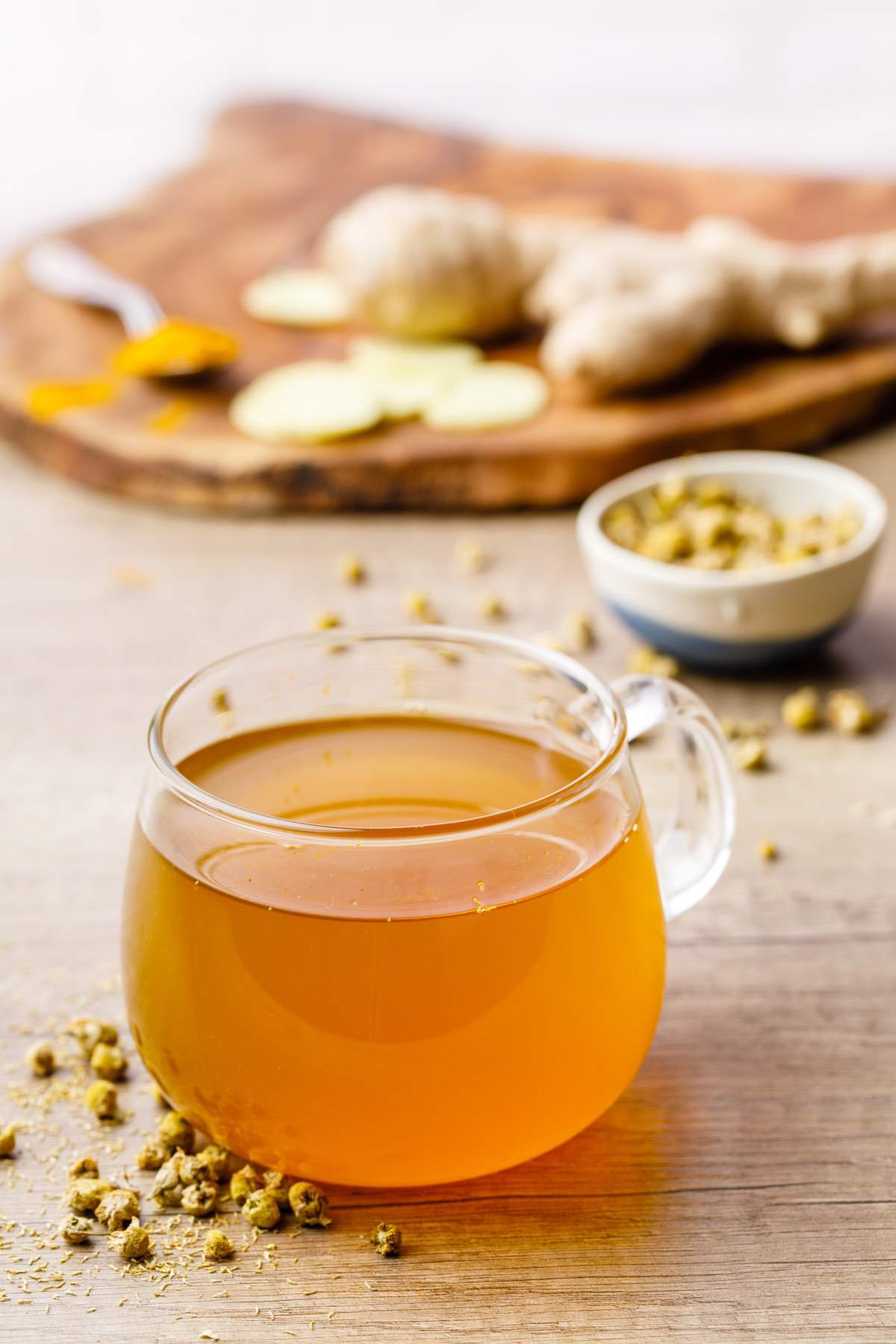Camomila jengibre té de cúrcuma