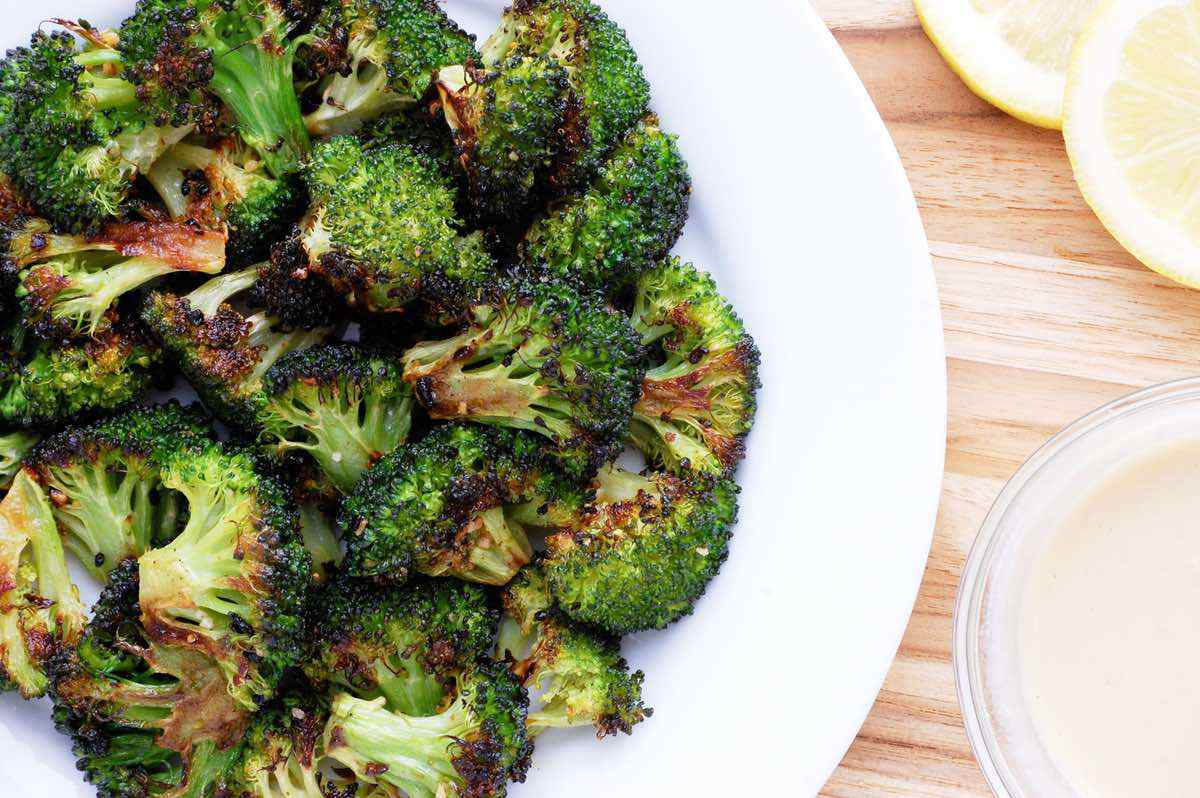 Crispy Broccoli with Tahini Dipping Sauce