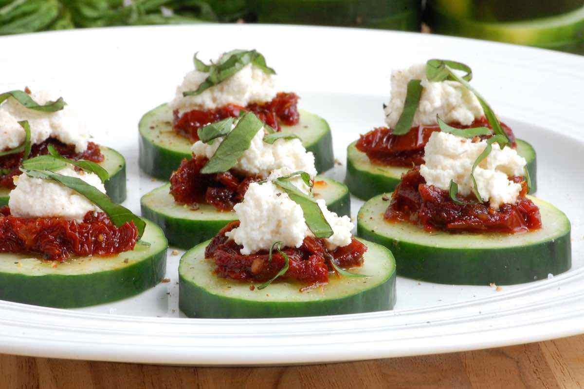 Mediterranean Cucumber Bites