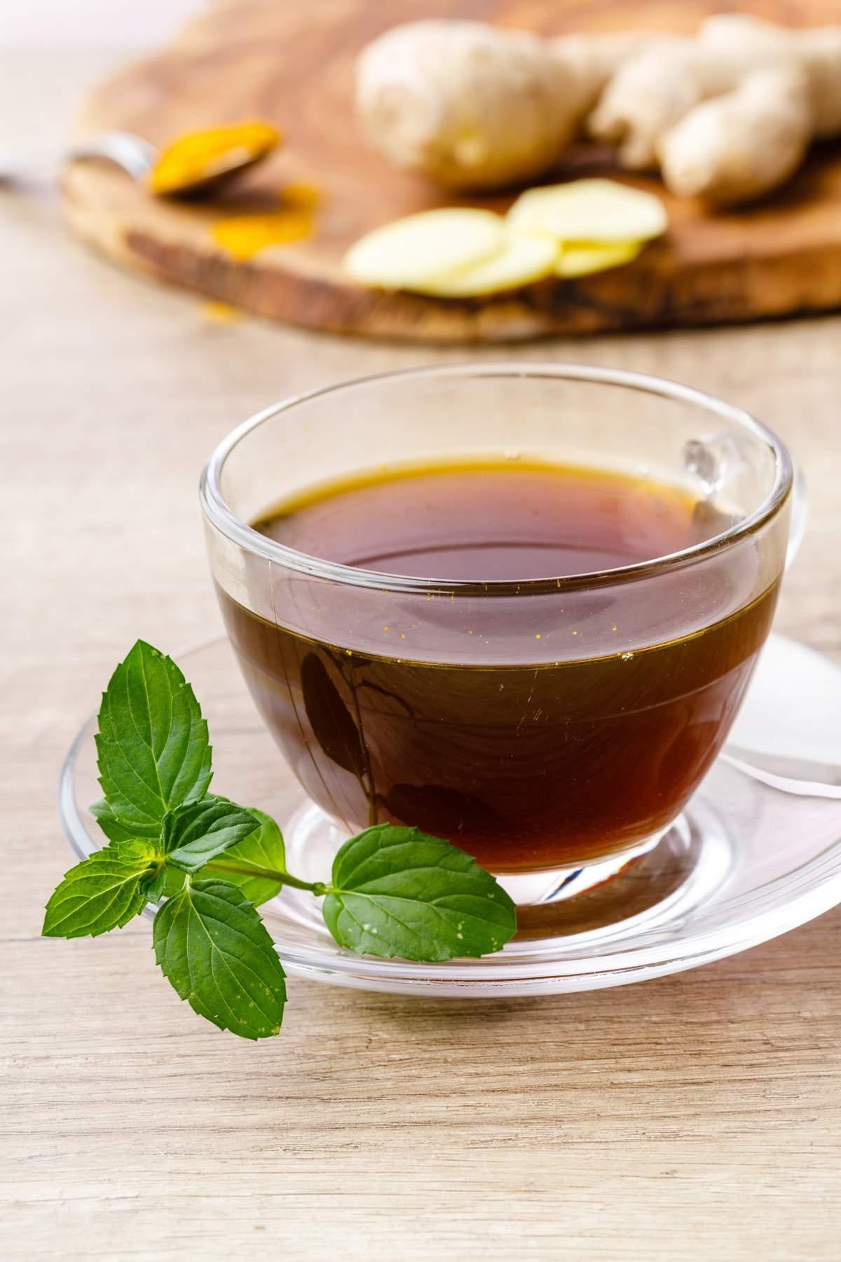Mint Turmeric Ginger Tea
