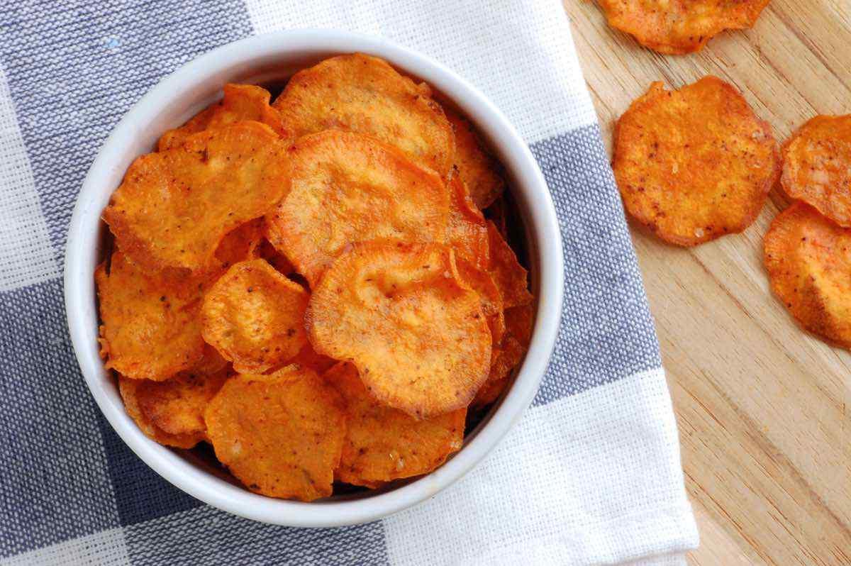 Chips De Patata Dulce De Chipotle Al Horno