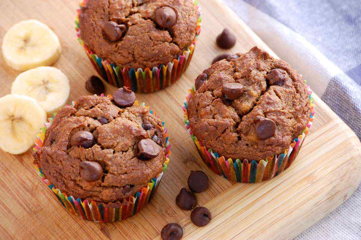 Muffins De Chocolate Con Bananas
