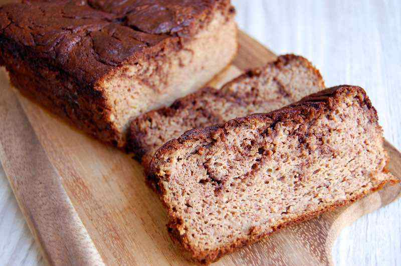 Chocolate Swirl Paleo Banana Bread