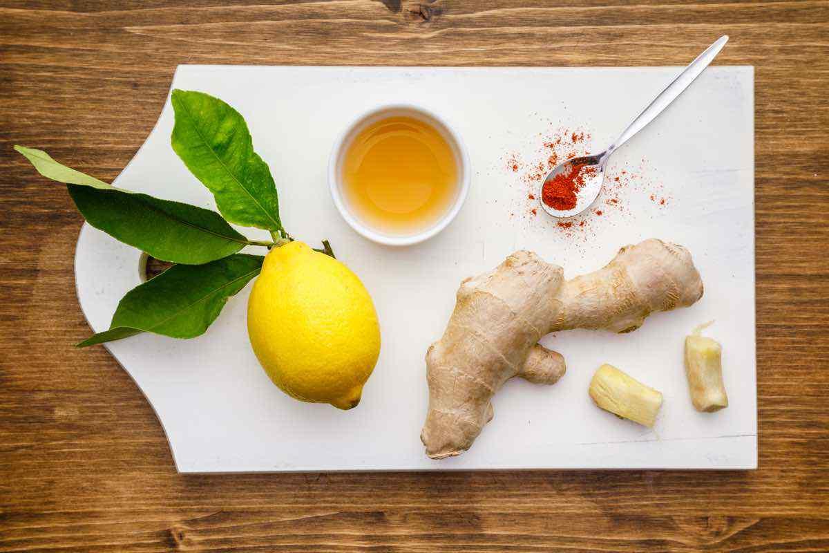Ingredientes de la bebida de limón vinagre de sidra de manzana