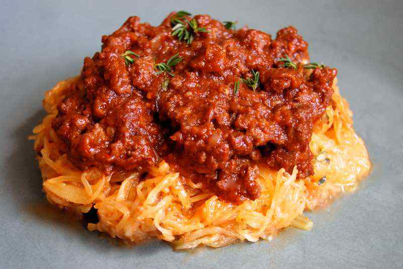 Paleo Ground Beef Bolognese Sauce