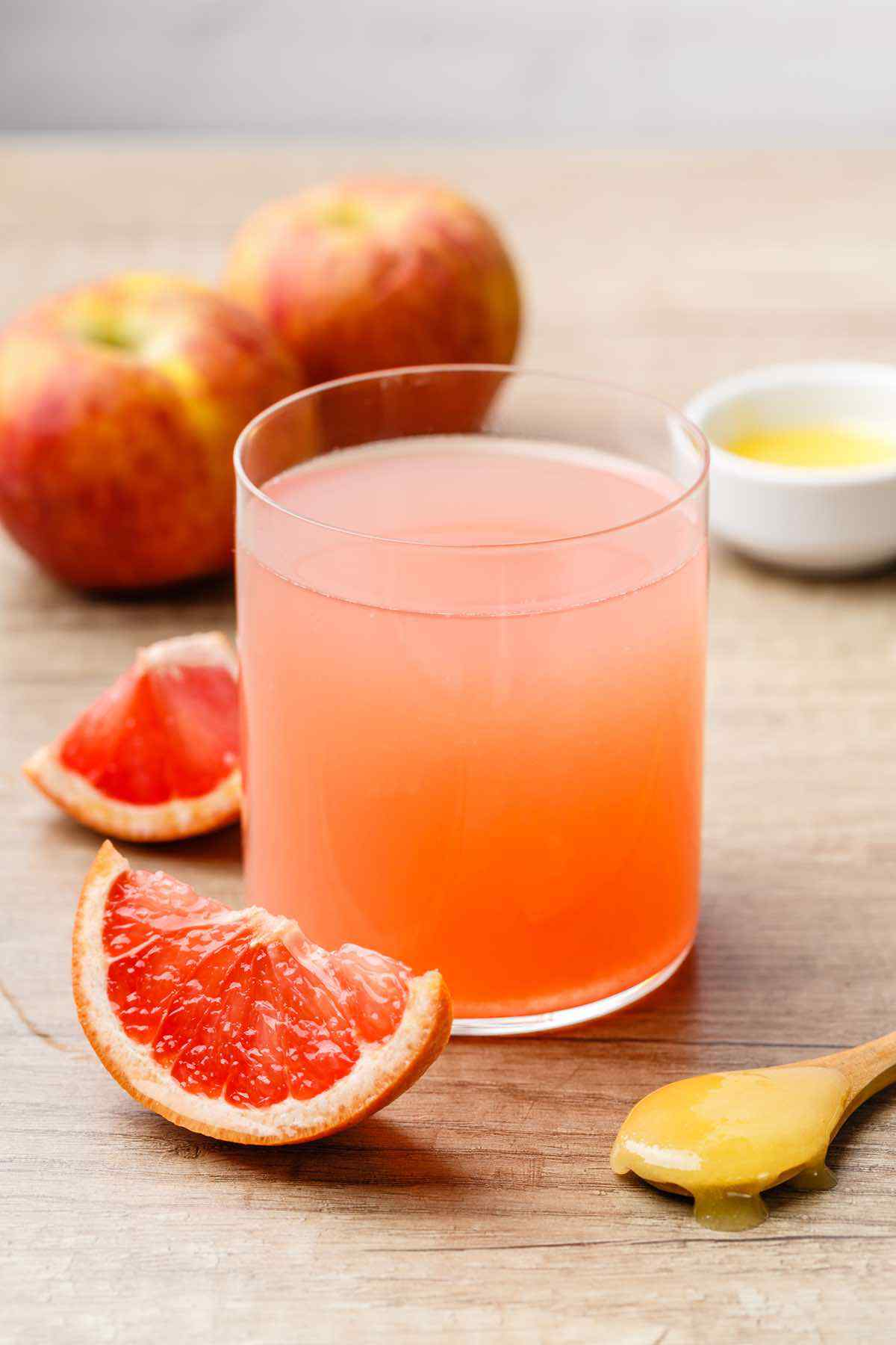 Pink Grapefruit Apple Cider Vinegar Weight Loss Drink