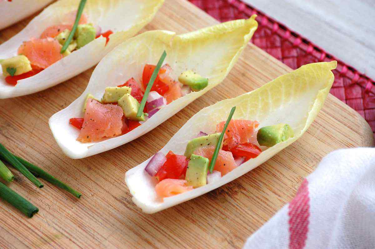 Salmon Stuffed Endives