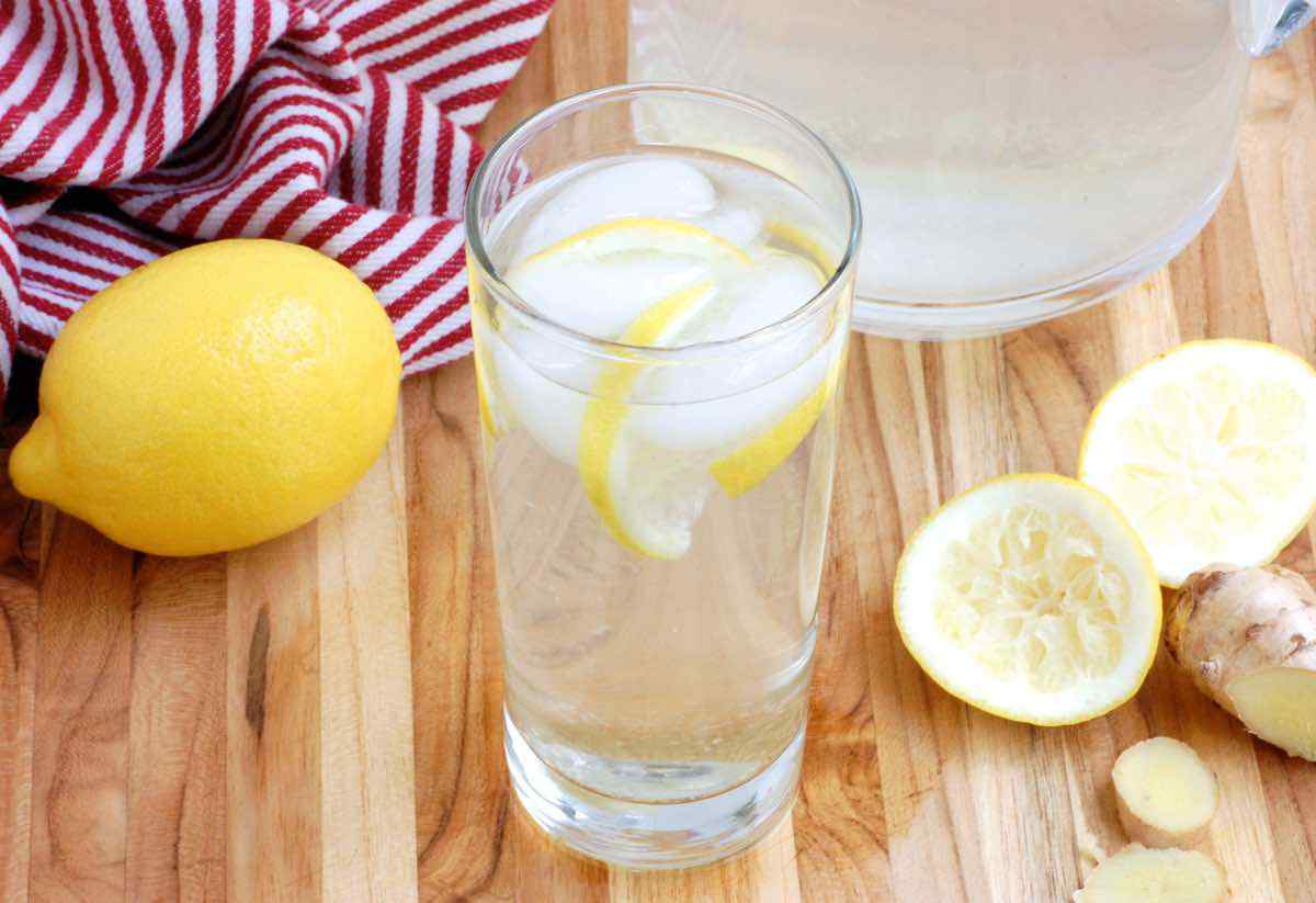 Simple Lemon Ginger Detox Water