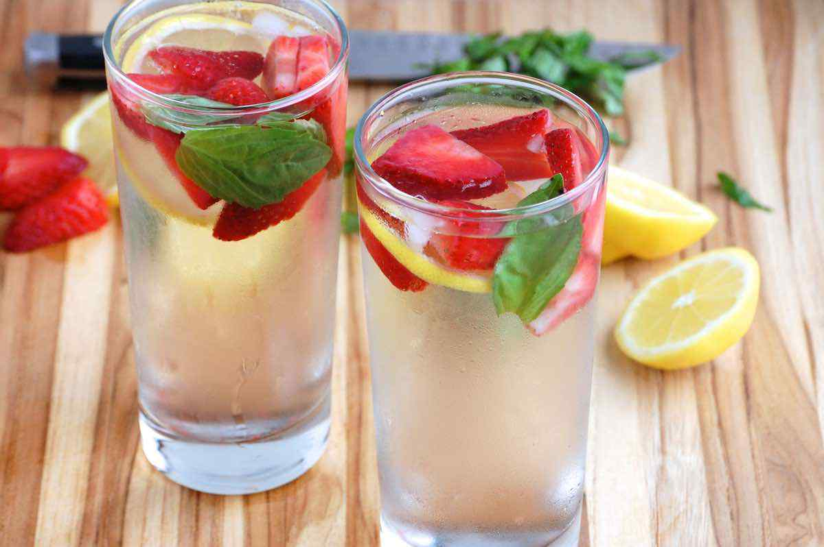 Strawberry Basil Detox Water