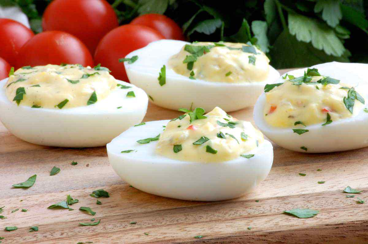 Sun-Dried Tomato Deviled Eggs
