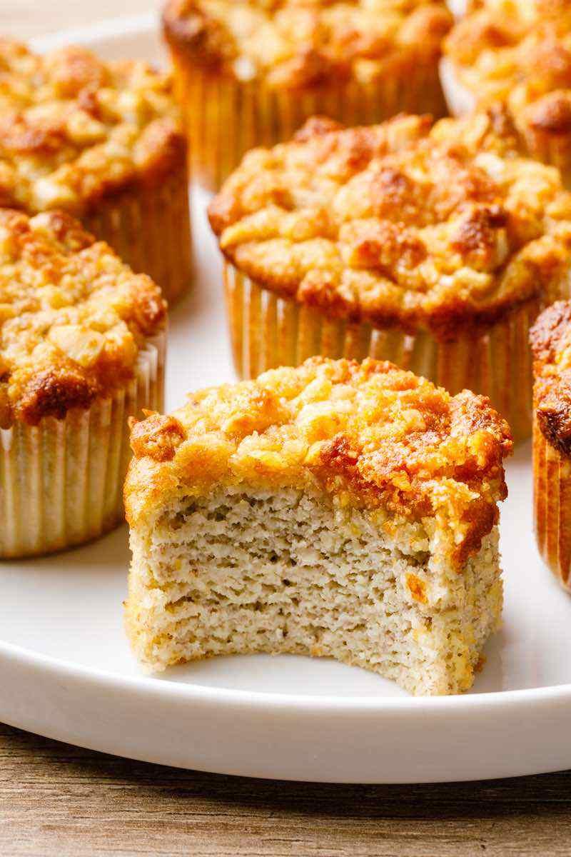 paleo banana crumb muffins