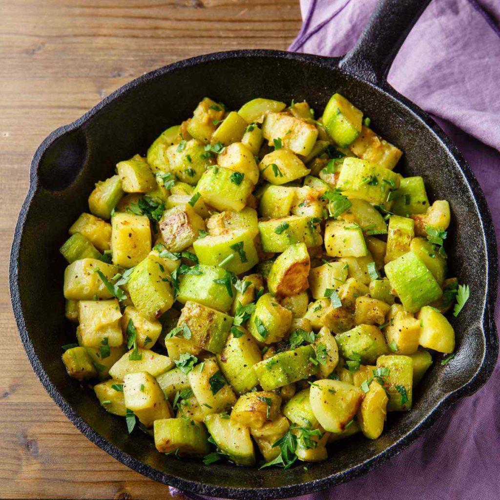 Paleo Sauteed Zucchini