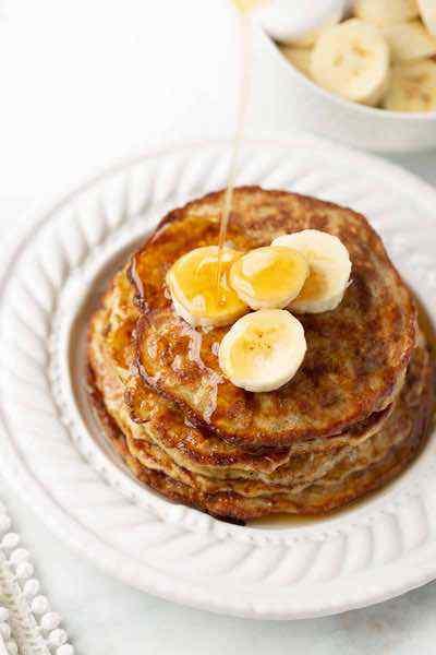Banana Egg Oat Pancakes