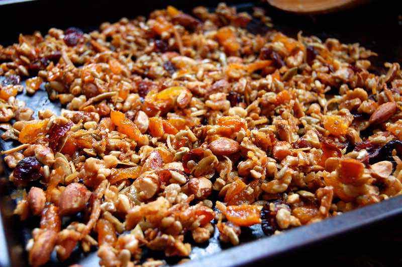 Cranberry Apricot Paleo Granola