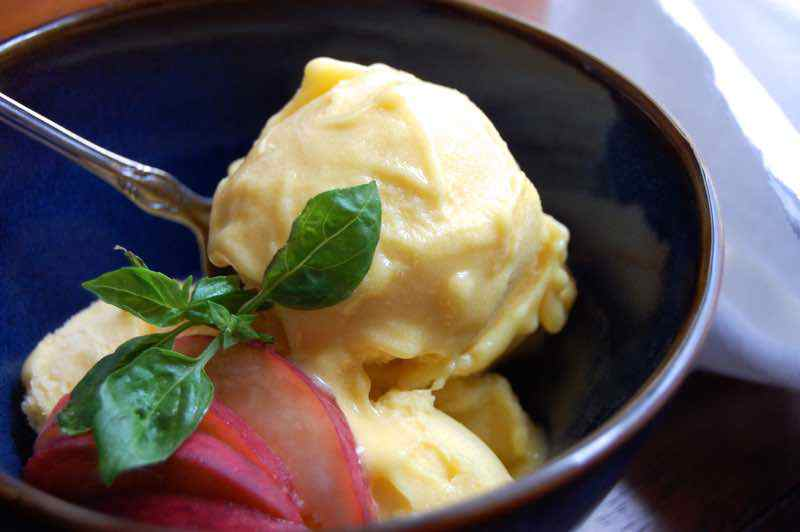 Creamy Peach Paleo Ice Cream