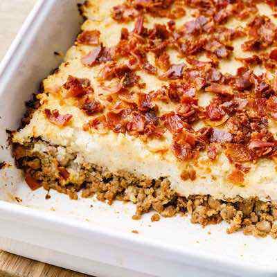 Double Bacon Ground Beef Paleo Casserole