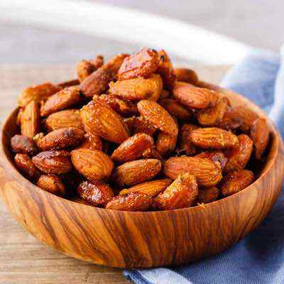 Easy Honey Mustard Roasted Almonds