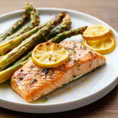 Easy Lemon Garlic Salmon with Roasted Asparagus