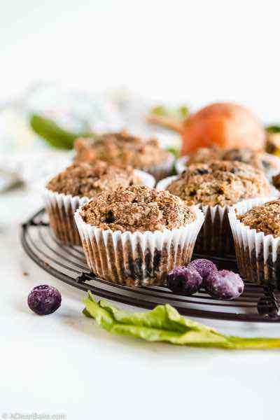Gluten Free Beet Blueberry Muffins