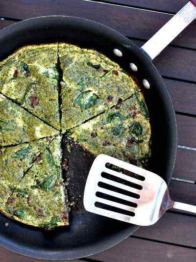 Huevos Verdes Y Jamón Paleo Frittata