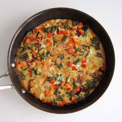 Kale and Red Pepper Frittata