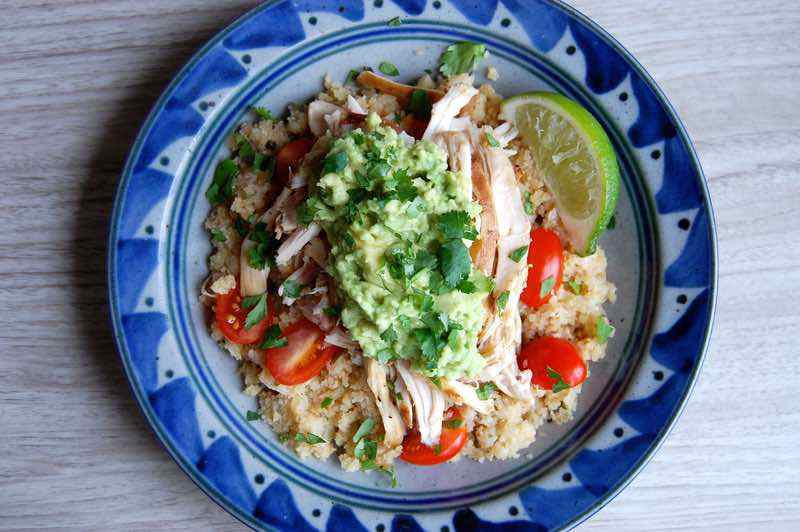 Paleo Chicken Cauliflower Rice Bowl