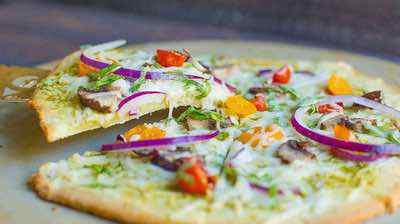 Paleo Pesto Veggie Pizza