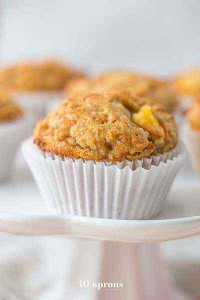 Peach Ginger Paleo Muffins