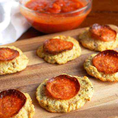 Pepperoni Cauliflower Pizza Bites